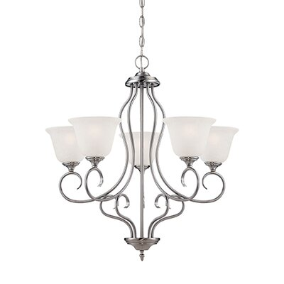 Cleveland 5-Light Shaded Chandelier Finish: Satin Nickel