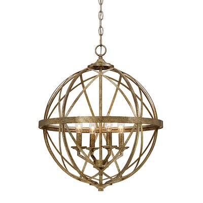 Tokai 4-Light Metal Foyer Pendant Finish: Vintage Gold