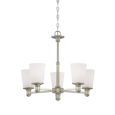 Cimmaron 5-Light Shaded Chandelier Finish: Satin Nickel