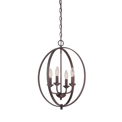 4-Light Foyer Pendant Finish: Rubbed Bronze