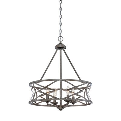 Tokai 4-Light Candle-Style Chandelier Finish: Antique Silver