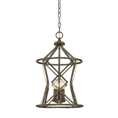 Tokai 3-Light Foyer Pendant Finish: Antique Silver