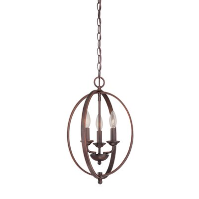 3-Light Foyer Pendant Finish: Rubbed Bronze