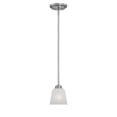 Franklin 1-Light Mini Pendant Finish: Brushed Pewter