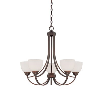 Camden 5-Light Shaded Chandelier Finish: Rubbed Bronze