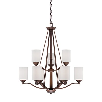 Hester 9-Light Shaded Chandelier Finish: Rubbed Bronze