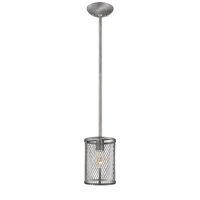 Akron 1-Light Mini Pendant Finish: Brushed Pewter