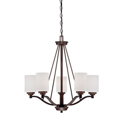 Hester 5-Light Shaded Chandelier Finish: Rubbed Bronze