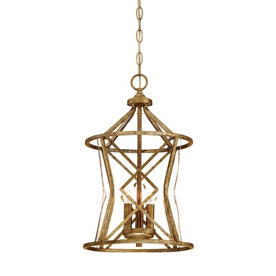 Tokai 3-Light Foyer Pendant Finish: Vintage Gold