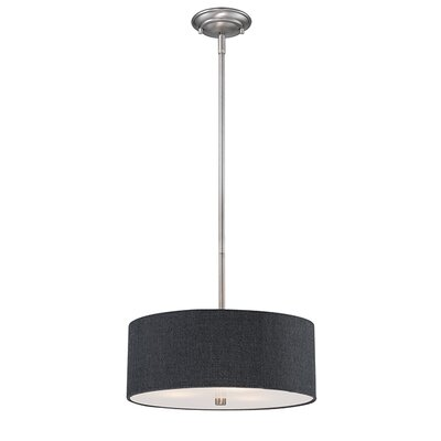 Steuben Rubbed Bronze 3-Light Drum Pendant