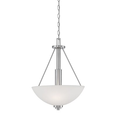 Hester 3-Light Bowl Pendant Finish: Satin Nickel, Size: 21.25 H x 15.75 W x 15.75 D