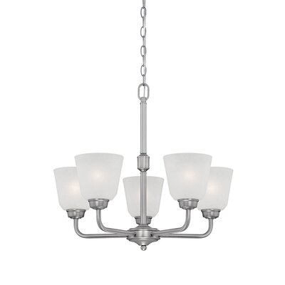 Franklin 5-Light Shaded Chandelier Finish: Brushed Pewter