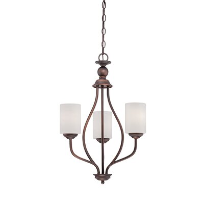 Lansing 3-Light Shaded Chandelier Finish: Rubbed Bronze