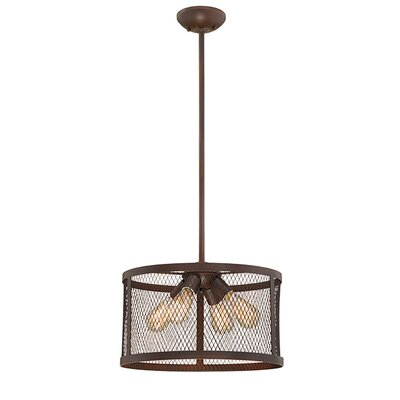Akron 4-Light Drum Pendant Finish: Rubbed Bronze