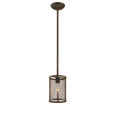 Akron 1-Light Mini Pendant Finish: Rubbed Bronze