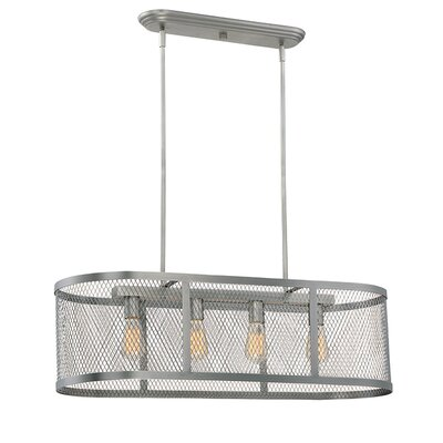 Akron 4-Light Kitchen Island Pendant Finish: Brushed Pewter