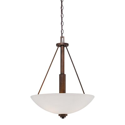 Durham 3-Light Bowl Pendant Finish: Rubbed Bronze, Size: 25 H x 19 W x 19 D