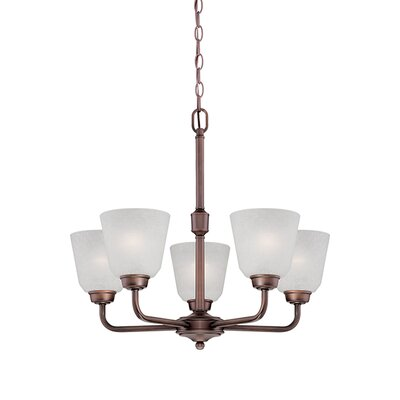 Franklin 5-Light Shaded Chandelier Finish: Rubbed Bronze