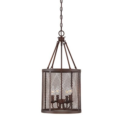 Akron 4-Light Foyer Pendant Finish: Rubbed Bronze