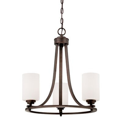 Castano 3-Light Shaded Chandelier