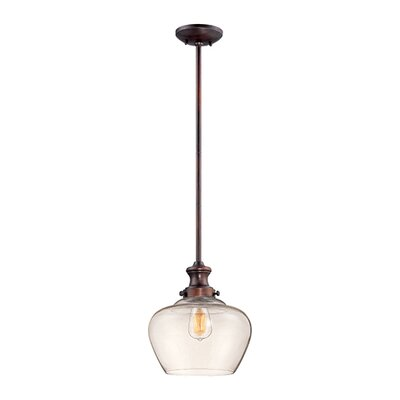 Witten 1-Light Mini Pendant Finish: Rubbed Bronze