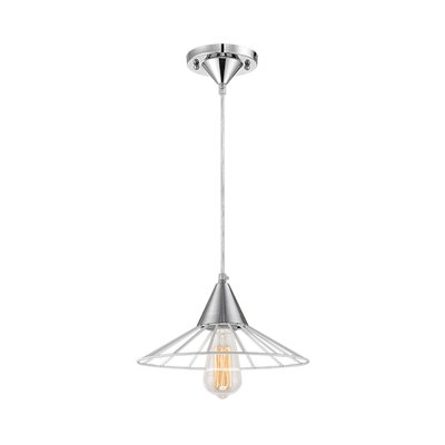 1-Light Mini Pendant Finish: White/Chrome