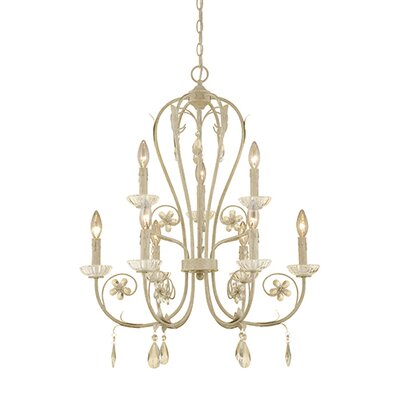 Clara 9-Light Crystal Chandelier