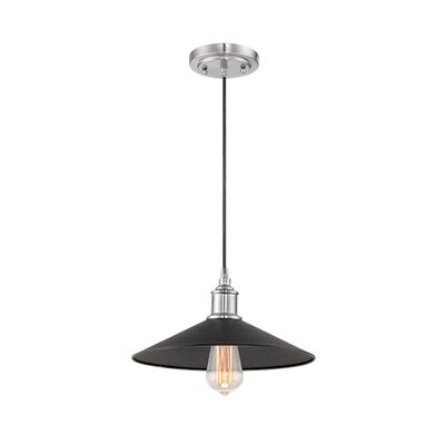1-Light Mini Pendant Finish: Black/Brushed Nickel