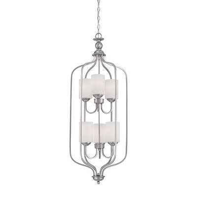 Lansing 6-Light Foyer Pendant Finish: Brushed Pewter
