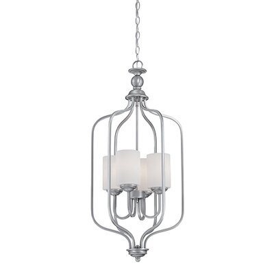 Lansing 4-Light Foyer Pendant Finish: Brushed Pewter