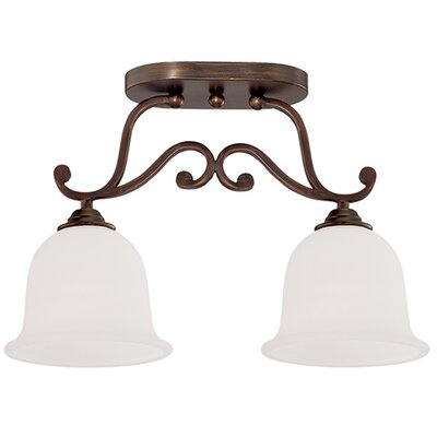 Courtney Lakes 2-Light Semi-Flush Mount