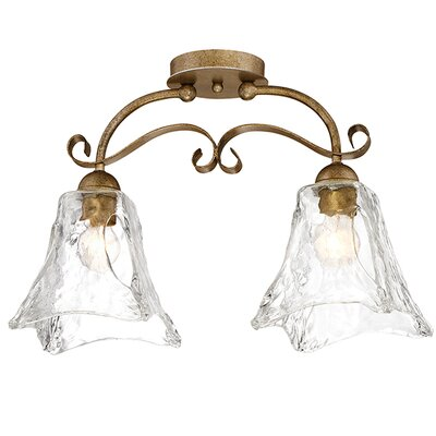Whaley 2-Light Semi-Flush Mount