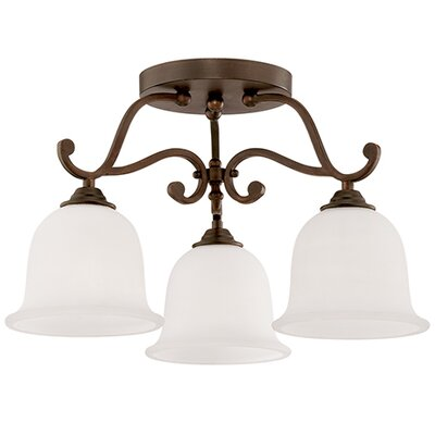 Courtney Lakes 3-Light Semi-Flush Mount