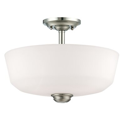 Cimmaron 2-Light Semi-Flush Mount Finish: Satin Nickel