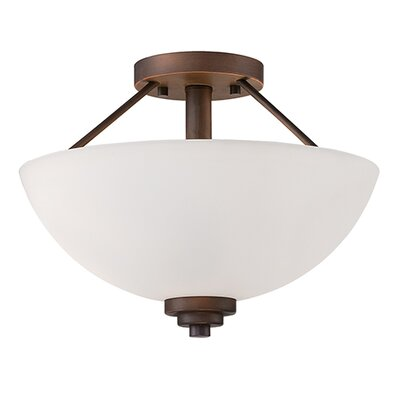 Hester 2-Light Semi-Flush Mount Finish: Rubbed Bronze
