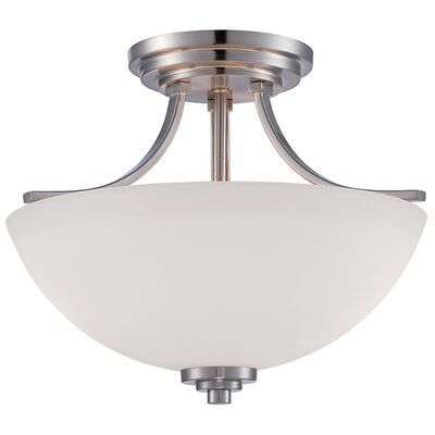 Camden 2-Light Semi-Flush Mount Finish: Brushed Nickel