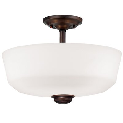Cimmaron 2-Light Semi-Flush Mount Finish: Rubbed Bronze
