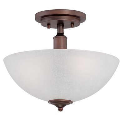 Franklin 2-Light Semi-Flush Mount Finish: Rubbed Bronze