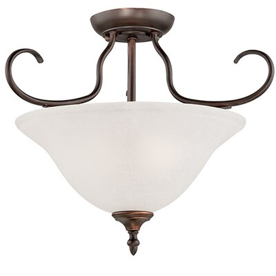 Cleveland 2-Light Semi-Flush Mount Finish: Rubbed Bronze