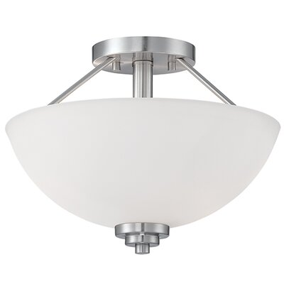 Hester 2-Light Semi-Flush Mount Finish: Satin Nickel