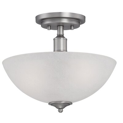 Franklin 2-Light Semi-Flush Mount Finish: Brushed Pewter