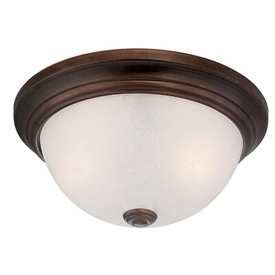 3-Light Flush Mount Finish: Rubbed Bronze