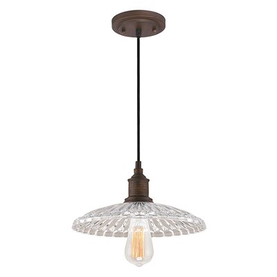 1-Light Mini Pendant Finish: Rubbed Bronze