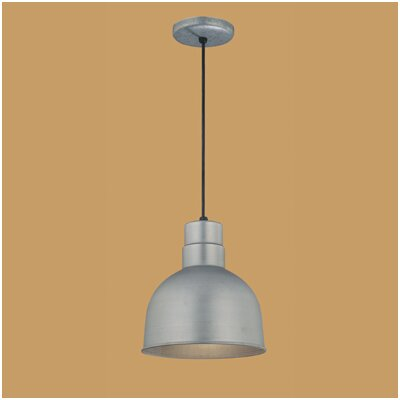 Theta 1-Light Kitchen Pendant Finish: Galvanized