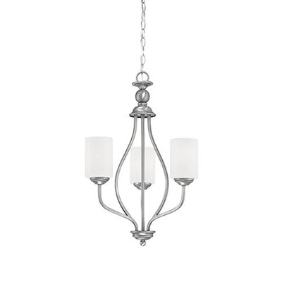 Lansing 3-Light Shaded Chandelier Finish: Brushed Pewter
