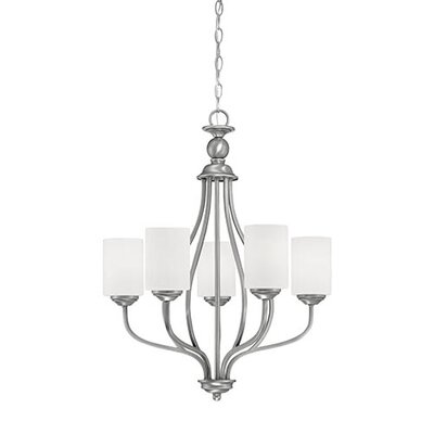 Lansing 5-Light Shaded Chandelier Finish: Brushed Pewter
