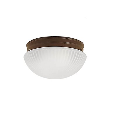 2-Light Flush Mount Finish: Bronze