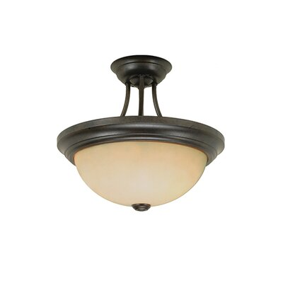 3-Light Semi-Flush Mount