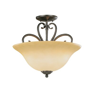 Birchview 3-Light Semi-Flush Mount