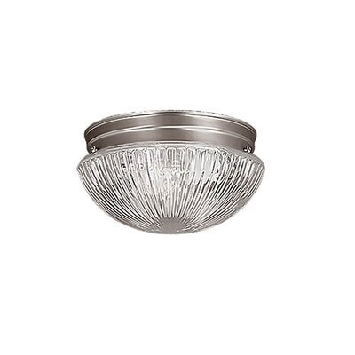 Mathilda 2-Light Flush Mount Finish: Satin Nickel